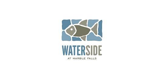 Лого в виде мозаики с рыбой
