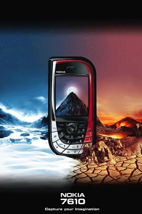 Дизайн постера для Nokia 7610