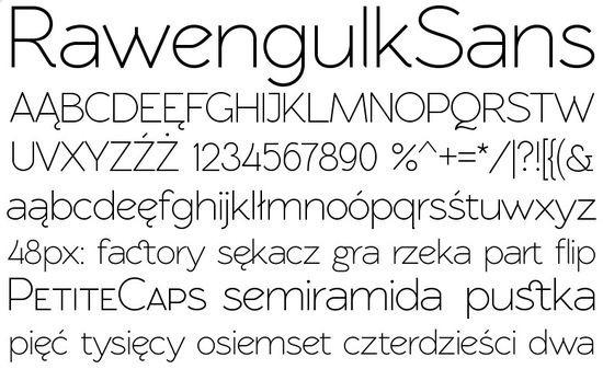 Тонкий округлый печатный шрифт
