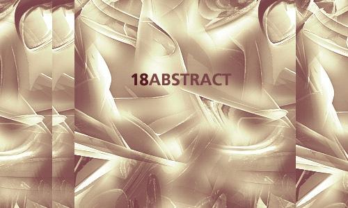 Набор из 18 абстрактных кистей