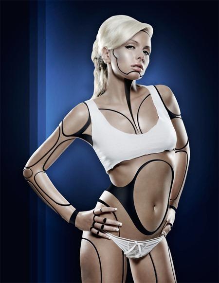 Создайте девушку-робота в Фотошопе