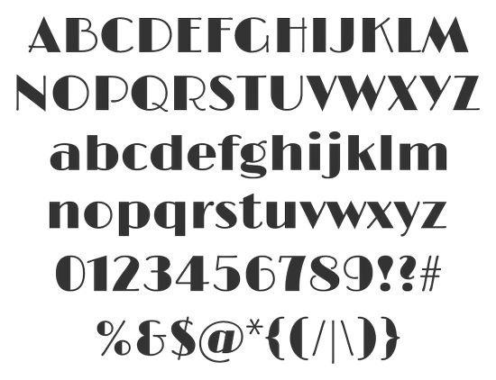 Жирный печатный шрифт