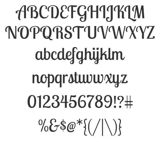 Прописной жирный шрифт