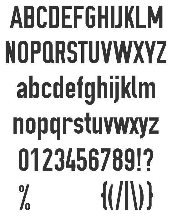 Простой печатный жирный шрифт