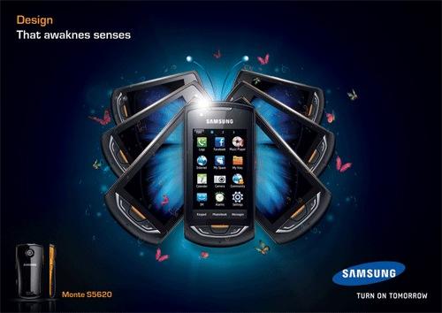Рекламный постер для SAMSUNG