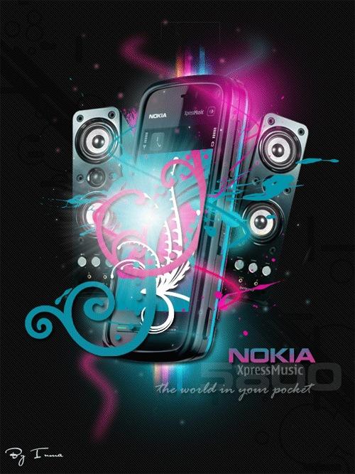 Красочный стильный Nokia