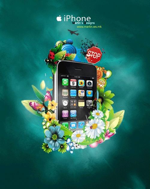 Яркий сочный IPhone