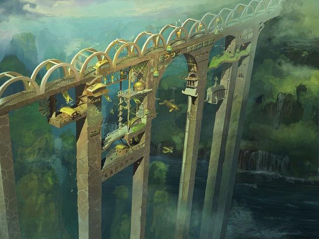 деревня на мосту