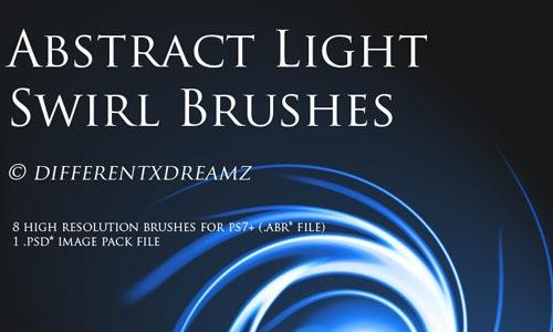 8 кистей абстрактных завитков света
