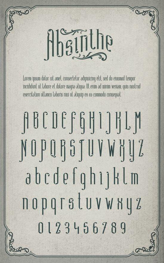 Узорный шрифт