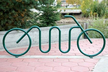 Стойка-велосипед
