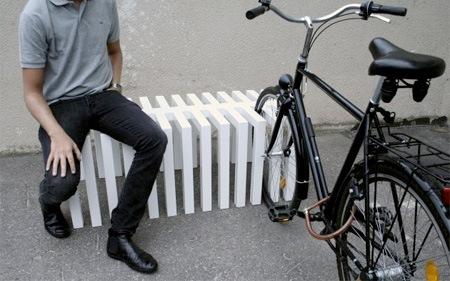 Стойка-скамейка для велосипедов