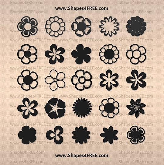 25 форм векторных цветов