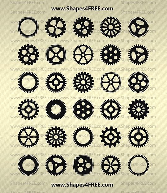 90 форм шестеренок