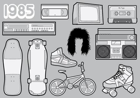 Иконки в стиле 80-ых