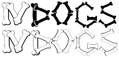 Шрифт в виде косточек