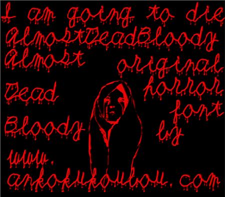 Кровавый шрифт для фотошопа фото 715-616