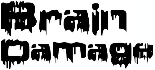 Угловатый шрифт с потеками