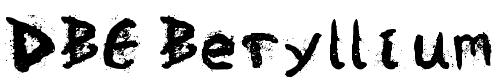 Шрифт с брызгами краски