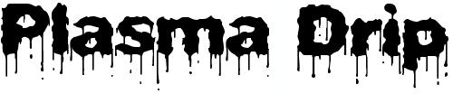 Жирный шрифт с потеками краски