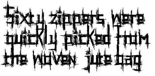 Шрифт в виде набросков
