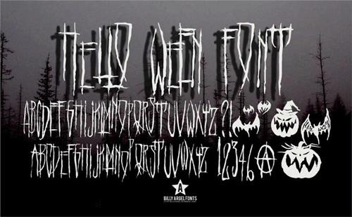 Хэллоуин шрифт