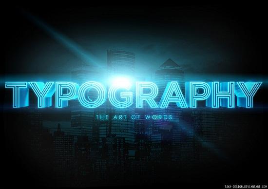 Неоновая типографика