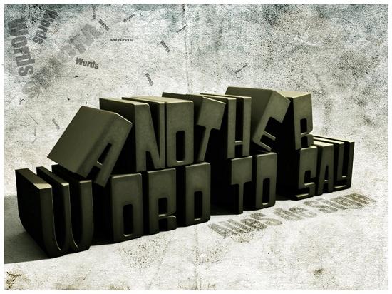 Типографика в стиле гранж