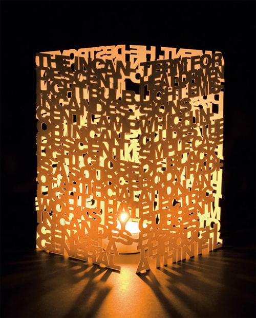 типографическая лампа