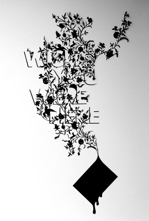 креативная природная типографика