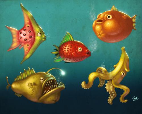фруктовые рыбки
