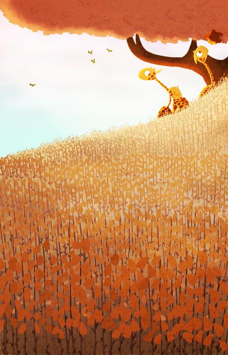 оранжевые жирафы