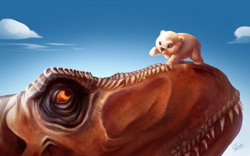 медвежонок  динозавр