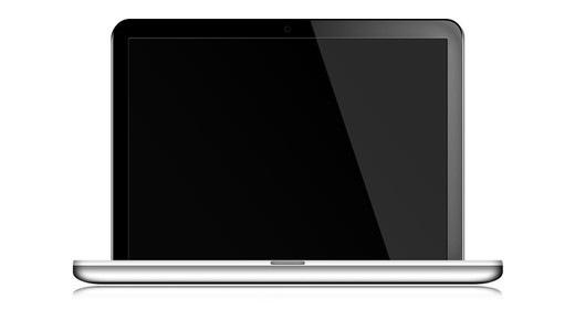 Иконка серебристого ноутбука