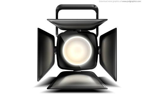PSD иконка прожектора