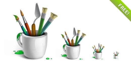 Набор конок кистей для рисования