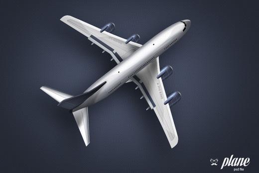 Бесплатный psd файл с изображением самолета