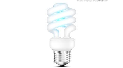Иконка флуоресцентной лампочки