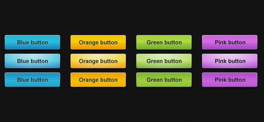 5 красочных веб кнопок