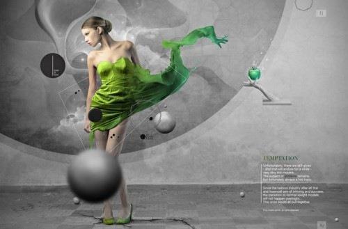 стильный зеленый дизайн