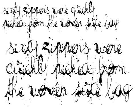 Грязный прописной шрифт