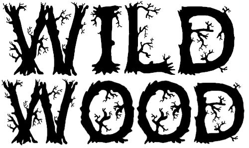 Шрифт с элементами веток деревьев