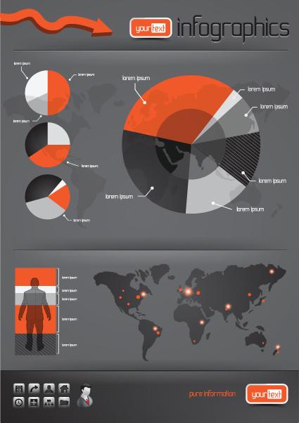 Infographics with Economy