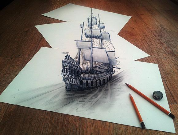 Примеры 3d рисунков простым