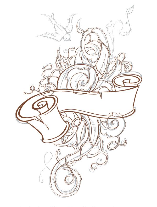 татуировки эскизы абстракция: