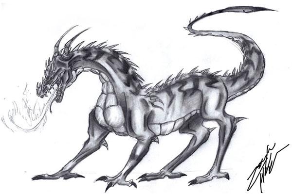 рисунки картинки драконов