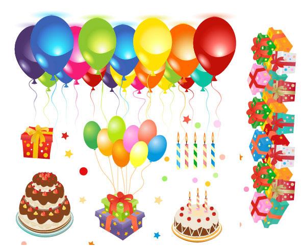Happy birthday vector material