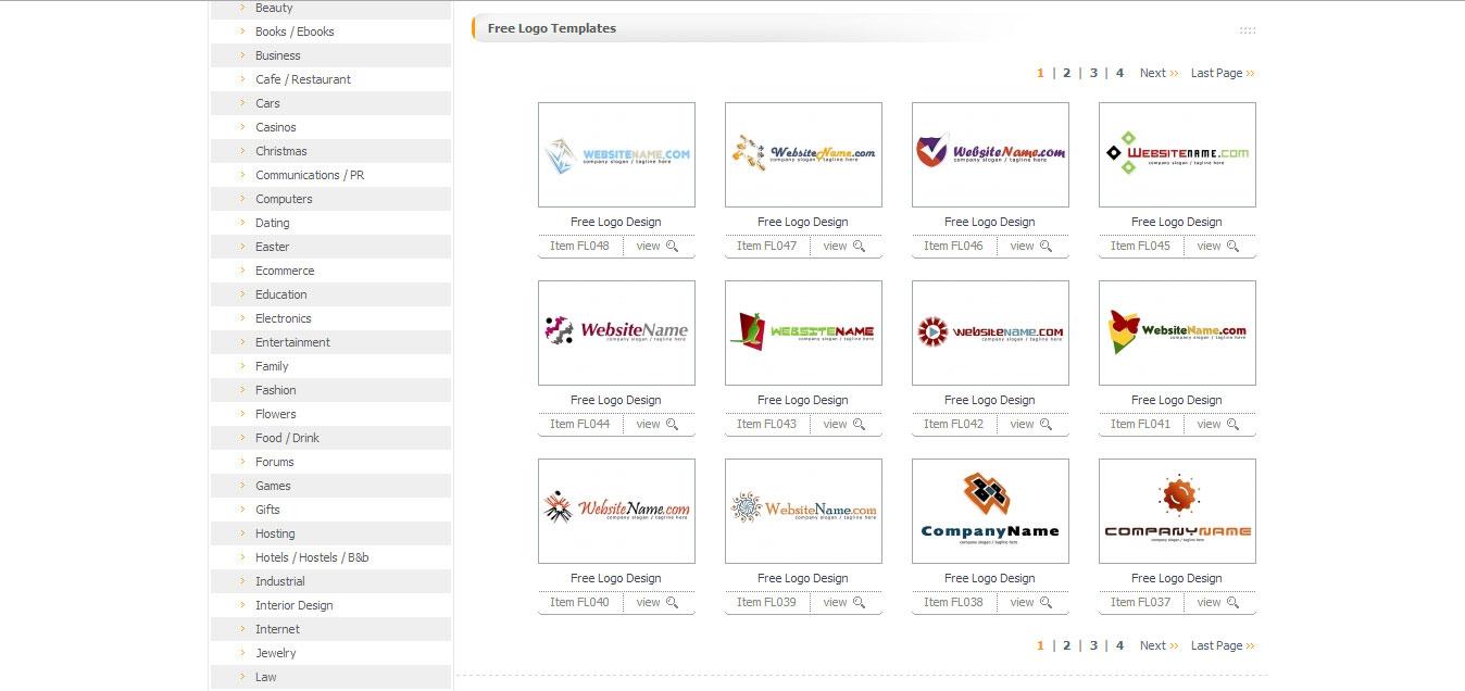 бесплатные шаблоны логотипов: