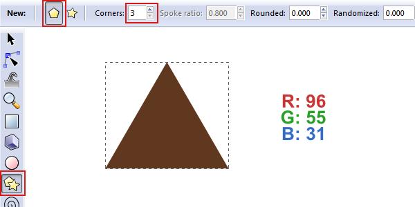 draw triangle polygon