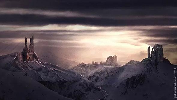 """Урок по фотошопу """"Пейзаж с руинами """""""